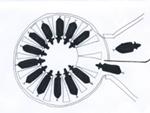 Система очистки сосков и пред доильной стимуляции вымени –  Air Sanicleanse  для доильной установки карусельного типа