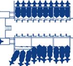 Система очистки сосков и пред доильной стимуляции вымени –  Air Sanicleanse  для доильного зала с одним модулем обработки сосков (щеткой)